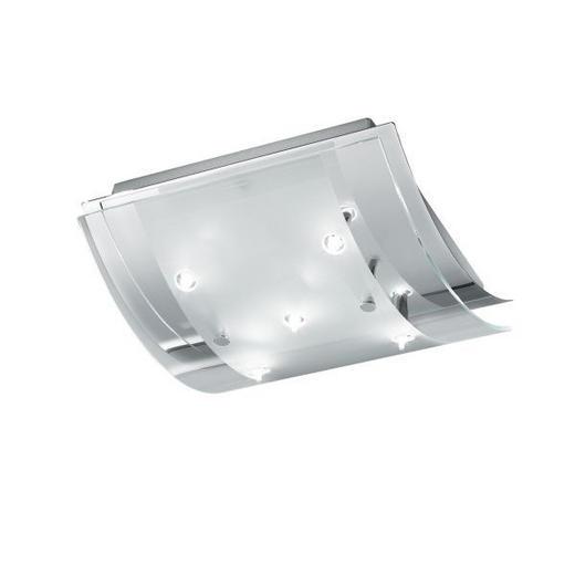 DECKENLEUCHTE - KONVENTIONELL, Glas/Metall (25.5/24.5/9cm)