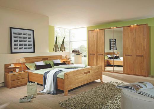 SCHLAFZIMMER in Erlefarben - Erlefarben, Design, Holz/Holzwerkstoff (180/200cm) - Cantus