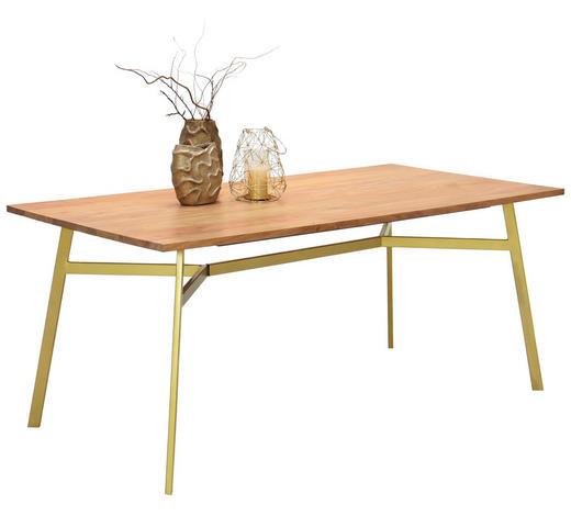 ESSTISCH in Holz, Metall 175/90/76 cm - Goldfarben/Akaziefarben, LIFESTYLE, Holz/Metall (175/90/76cm) - Landscape