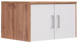 AUFSATZSCHRANK - Eichefarben/Silberfarben, KONVENTIONELL, Holzwerkstoff/Kunststoff (72/43/54cm) - Xora