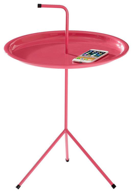 BEISTELLTISCH rund Pink - Pink, MODERN, Kunststoff/Metall (40/58cm) - Carryhome