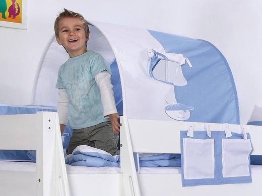 TUNNELSET Blau, Weiß - Blau/Weiß, Design, Textil
