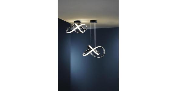 LED-DECKENLEUCHTE   - Schwarz, Design, Kunststoff/Metall (30/15/29cm) - Ambiente