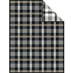 WOHNDECKE 150/200 cm Braun, Schwarz  - Schwarz/Braun, Basics, Textil (150/200cm) - Novel