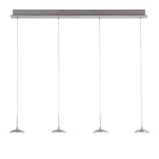 LED-HÄNGELEUCHTE - Alufarben/Weiß, LIFESTYLE, Kunststoff/Metall (90/200cm)