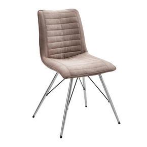 STOL - mullvadsfärgad/gråbrun/rostfritt stål-färgad, Design, metall/textil (54/89/60cm) - Xora
