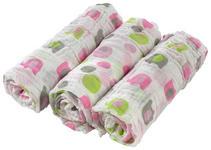 STOFFWINDEL 3-teilig  - Pink/Weiß, Basics, Textil (80/80cm) - My Baby Lou