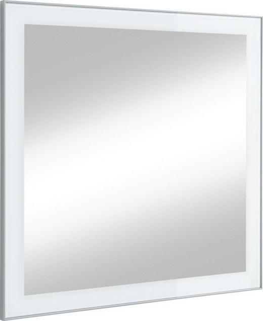 SPIEGEL Weiß - Weiß, Design, Glas (80/77cm)
