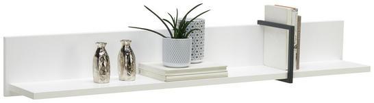 WANDBOARD in 138/21/22 cm Anthrazit, Weiß  - Anthrazit/Weiß, Design, Holzwerkstoff/Metall (138/21/22cm) - Hom`in