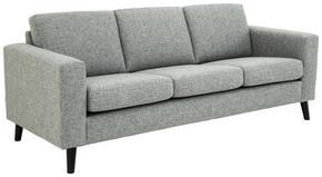 SOFFA - svart/grå, Design, trä/textil (214/86/84cm) - Lerche Home