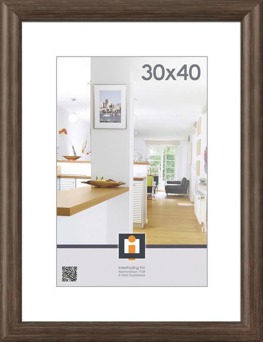 BILDERRAHMEN  Eichefarben - Eichefarben, Basics, Glas/Holz (30/40cm)