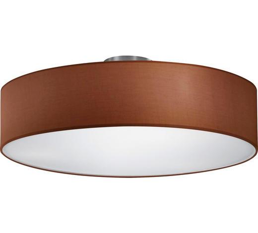 DECKENLEUCHTE - Braun/Nickelfarben, Design, Textil/Metall (50/20,5cm)