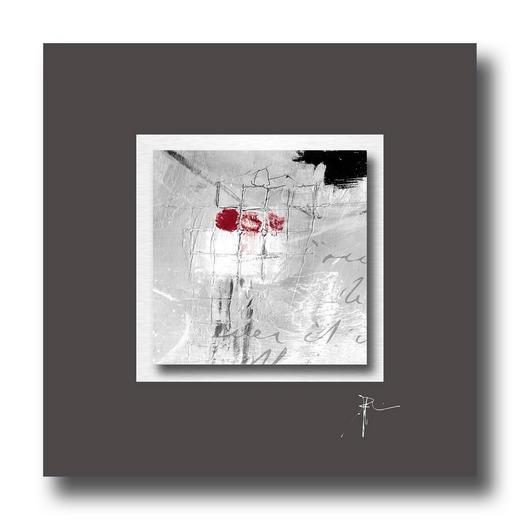 Abstraktes, Strukturen UNIKAT AUF ALUPASSEPARTOUT - Multicolor, Design (50/50cm) - Wiedemann
