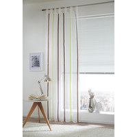 SCHLAUFENVORHANG transparent - Hellgrün, Basics, Textil (130/245cm) - ESPOSA