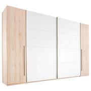 SCHWEBETÜRENSCHRANK in Buchefarben, Weiß - Buchefarben/Alufarben, Design, Holzwerkstoff/Kunststoff (315/225/61cm) - Ti`me