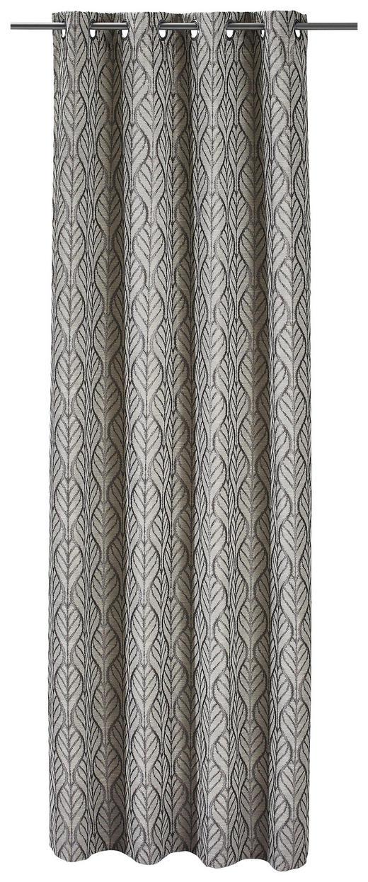 ÖSENSCHAL  Verdunkelung - Silberfarben, Textil (135/245cm)