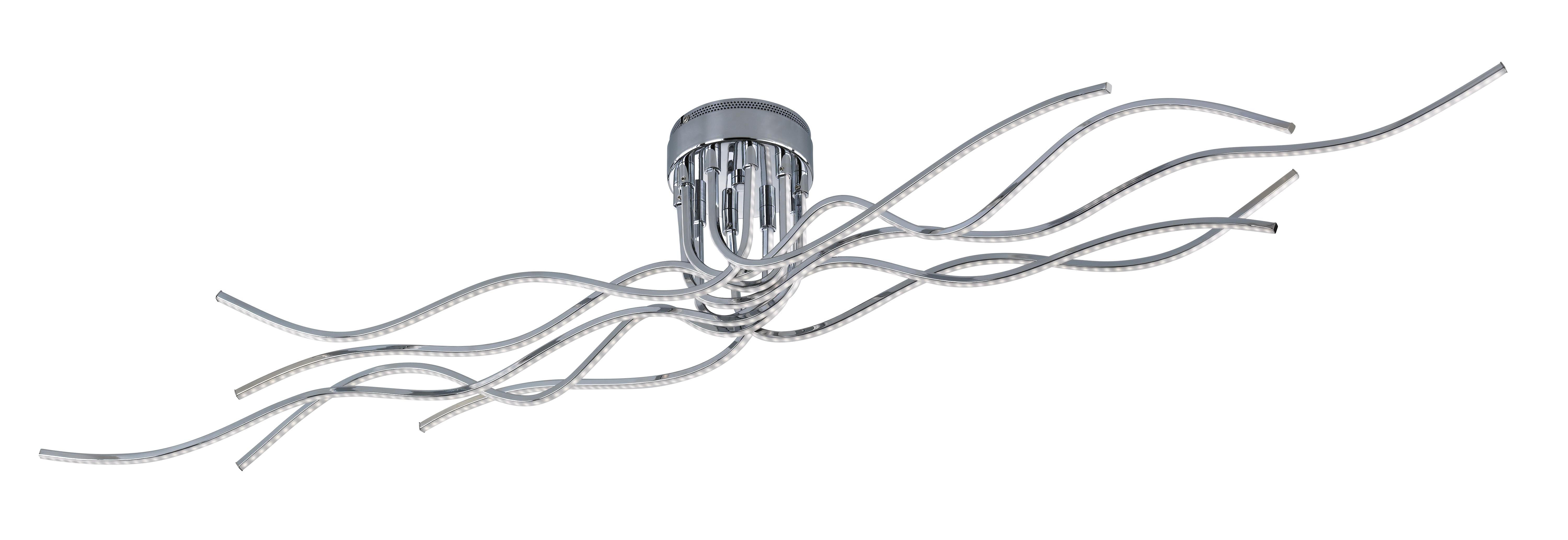 LED-TAKLAMPA - kromfärg, Design, metall (150/24/20cm) - Ambiente