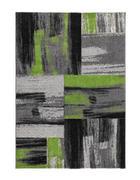 TKANI TEPIH - zelena/boje srebra, Design, tekstil (80/150cm)