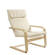 RELAXSESSEL in Beige, Naturfarben Holz, Textil - Beige/Naturfarben, Design, Holz/Textil (67/93/78cm) - CARRYHOME