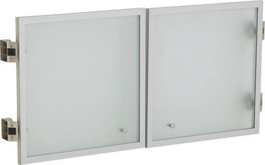 TÜR 86/45/1,8 cm Alufarben, Weiß - Alufarben/Weiß, MODERN, Glas/Metall (86/45/1,8cm)