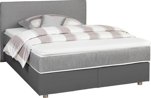 BOXSPRINGBETT 140/200 cm  in Grau, Hellgrau - Silberfarben/Hellgrau, Design, Holz/Textil (140/200cm) - Carryhome