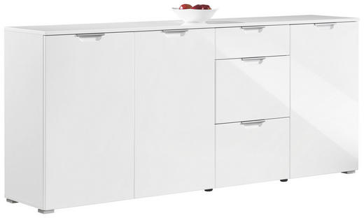 KOMMODE 192/85/40 cm - Alufarben/Weiß, Design, Holz/Holzwerkstoff (192/85/40cm) - Xora