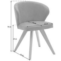 STOL, les, tekstil rjava - hrast/rjava, Design, tekstil/les (53/78/57cm) - Voleo