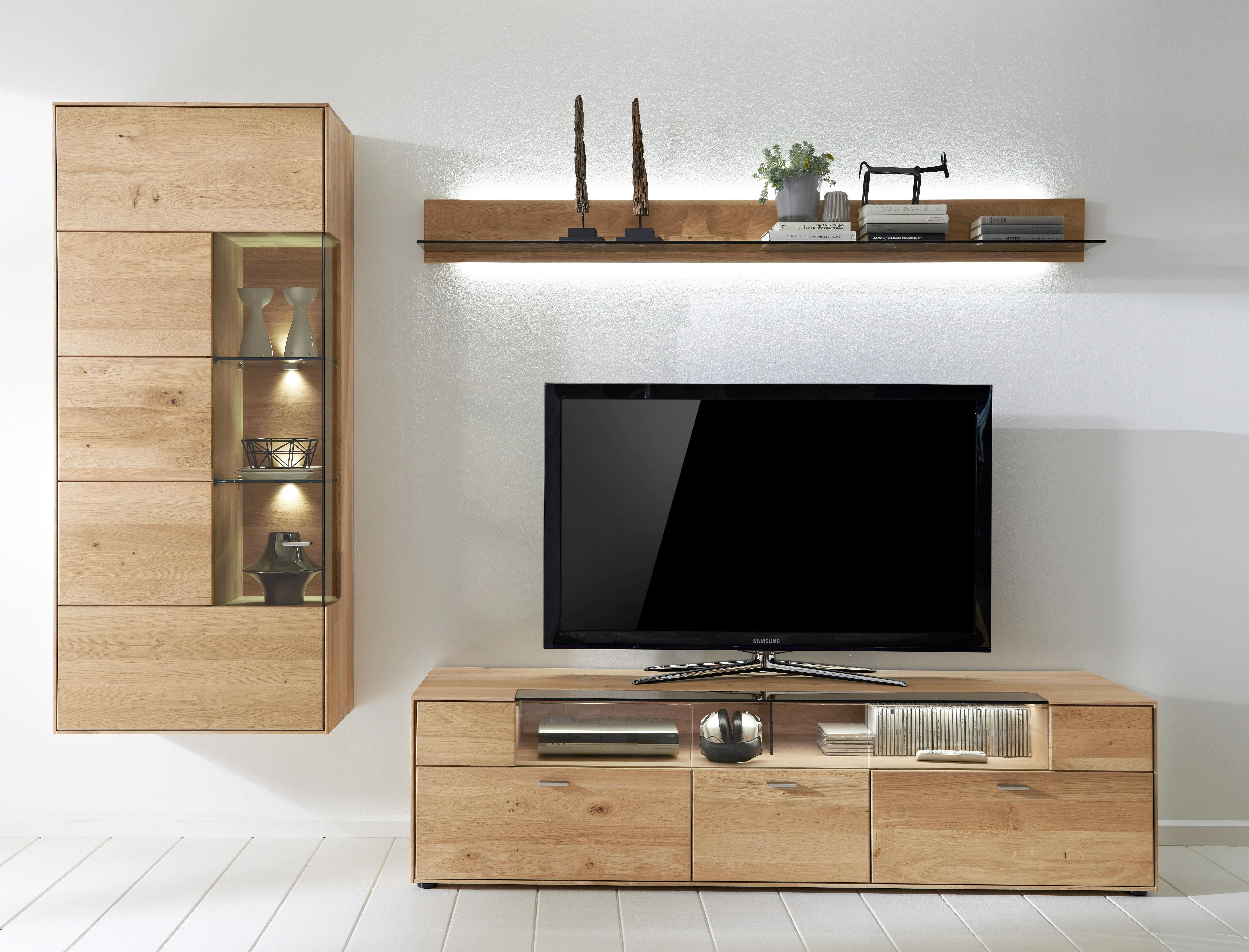 perfect wohnwand wildeiche massiv eichefarben design glasholz with wohnwand wildeiche