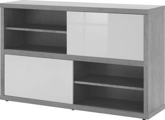 REGAL Grau, Weiß - Weiß/Grau, Design, Holzwerkstoff (140/87/35,6cm) - Carryhome