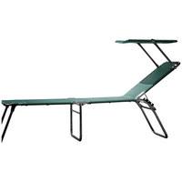 DREIBEINLIEGE Aluminium Grün, Alufarben  - Alufarben/Grün, Design, Textil/Metall (58/42/190cm) - Jan Kurtz