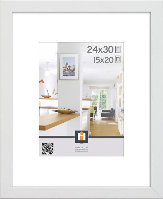 BILDERRAHMEN  Weiß - Weiß, Basics, Glas/Kunststoff (24/30/3cm)