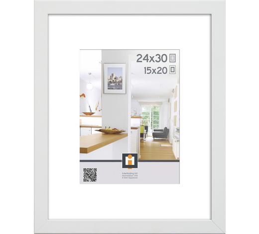 BILDERRAHMEN in Weiß - Weiß, Basics, Glas/Kunststoff (24/30/3cm)