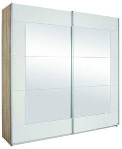 ORMAR - VISEĆA KLIZNA VRATA - Boja aluminijuma/Siva, Dizajnerski, Metal/Staklo (226/210/62cm) - Xora
