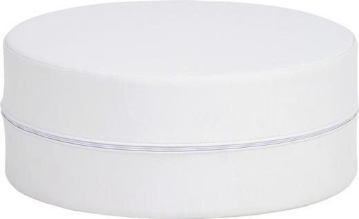HOCKER Lederlook Weiß - Weiß, Design, Textil (50/20cm) - CARRYHOME