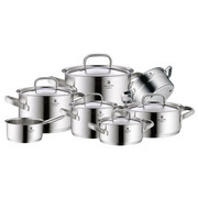 KOCHTOPFSET  Edelstahl  7-teilig - Silberfarben, Basics, Metall (61,5/42/33,5cm) - WMF