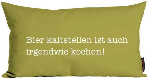 ZIERKISSEN 30/50 cm - Grün, Trend, Textil (30/50cm)