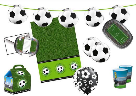 """Partyset """"Fußball"""" - Grün, Papier/Kunststoff"""