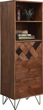 KOMMODE - Messingfarben/Bronzefarben, Trend, Holz/Metall (50/153/43cm) - Ambia Home