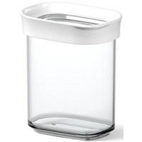 VORRATSDOSE 0,38 L - Transparent/Weiß, Basics, Kunststoff (0.38l) - EMSA