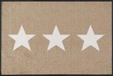 FUßMATTE 50/75 cm Sandfarben, Weiß - Sandfarben/Weiß, Basics, Kunststoff/Textil (50/75cm) - Esposa
