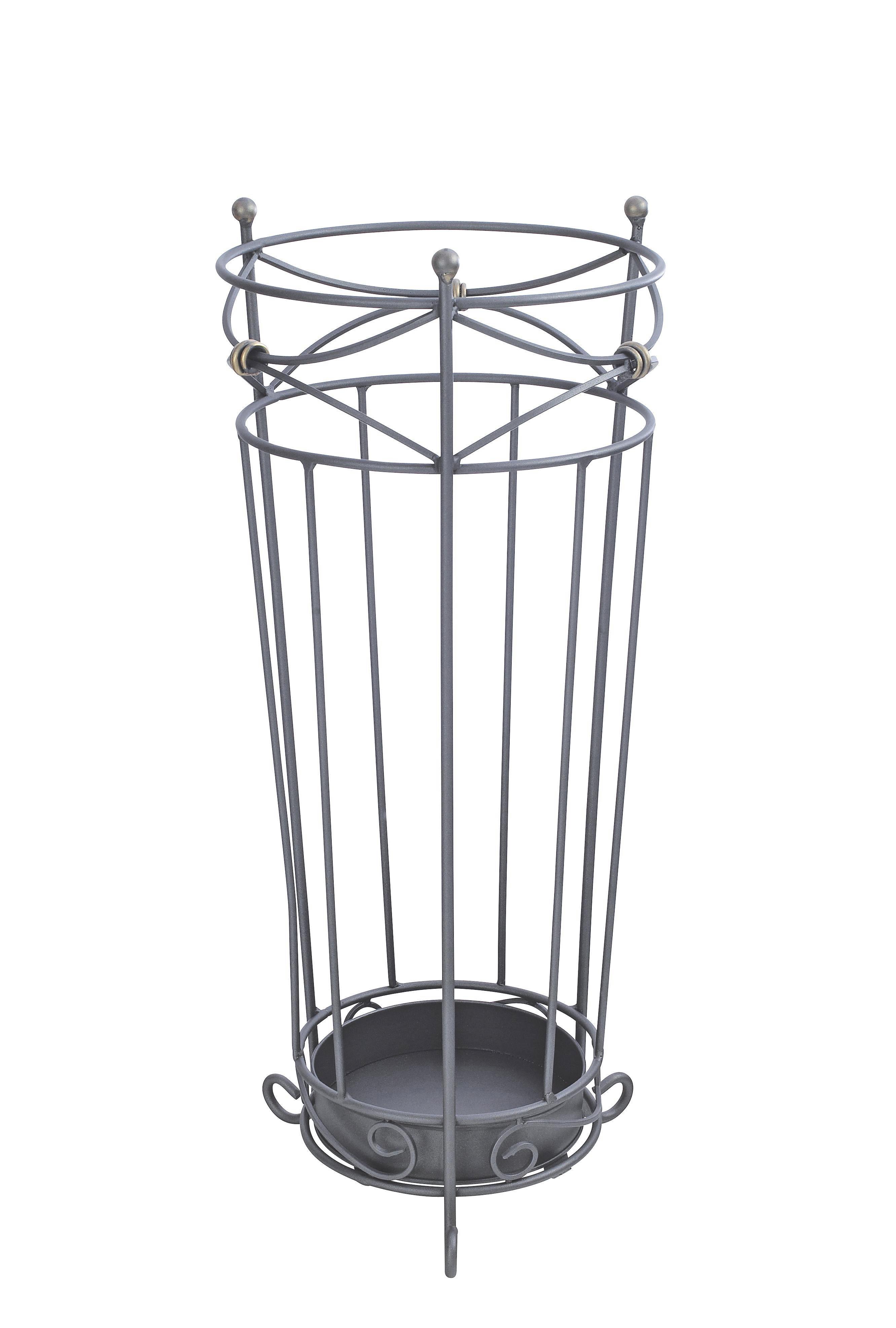 SCHIRMSTÄNDER Metall Anthrazit - Anthrazit, KONVENTIONELL, Metall (24/55cm)