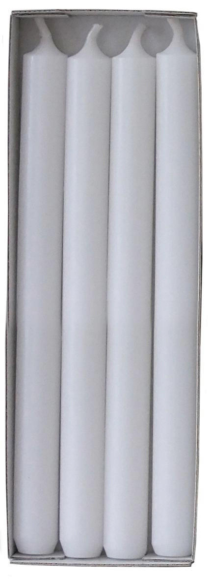 STABKERZENSET - Weiß, Basics (2,2/25cm) - Ambia Home