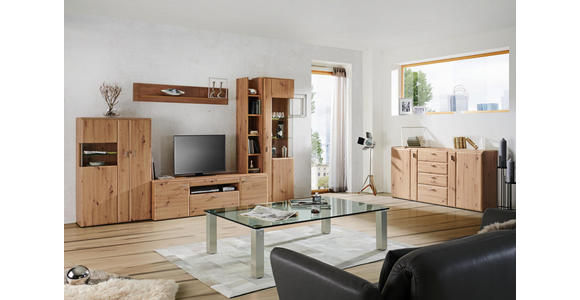 SIDEBOARD 180/92/43 cm  - Eichefarben/Alufarben, KONVENTIONELL, Holzwerkstoff/Kunststoff (180/92/43cm) - Cantus