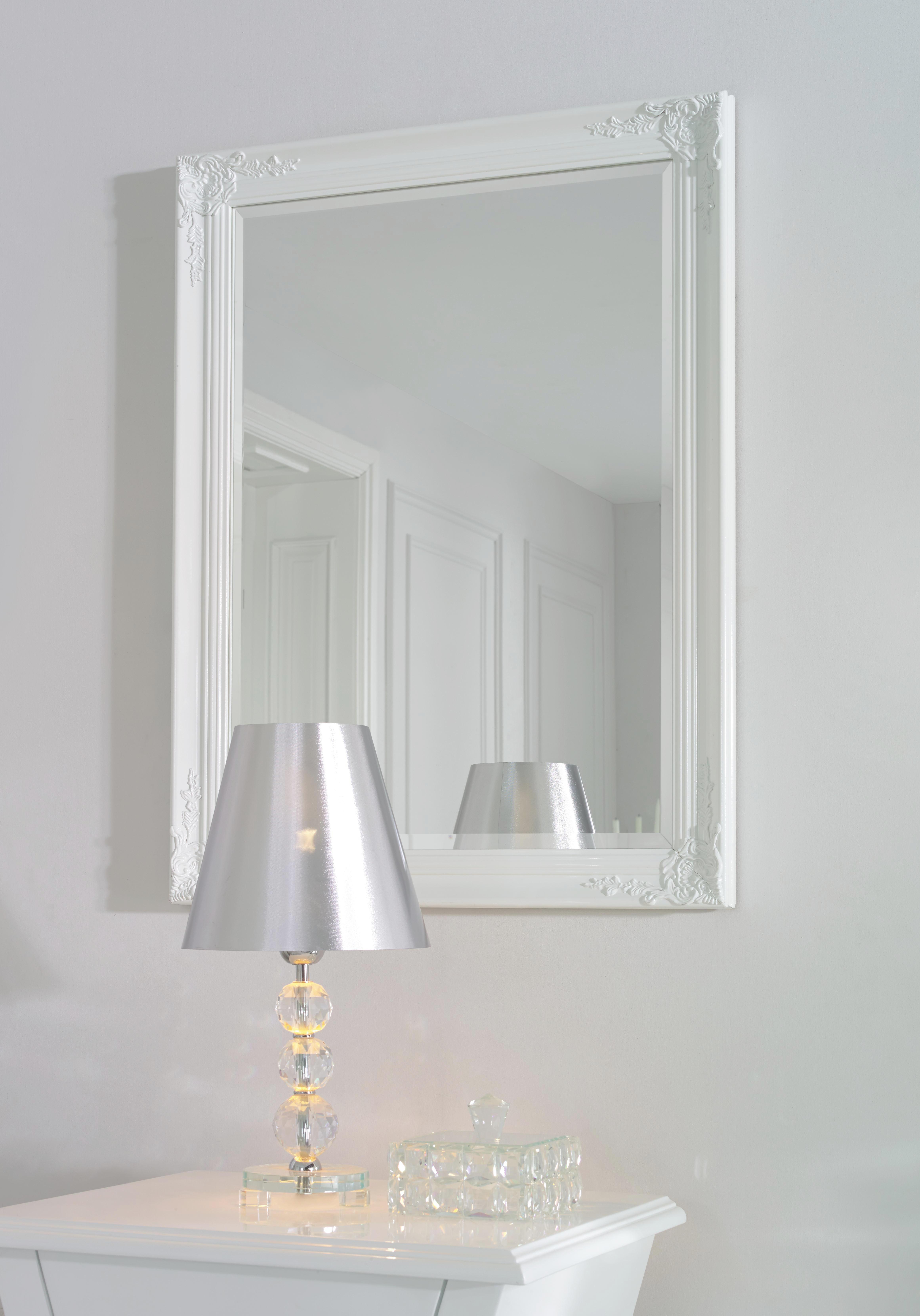OGLEDALO - bijela, Lifestyle, drvo (60/80/3,3cm) - LANDSCAPE