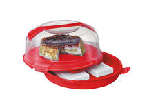 KUCHENTRANSPORTBOX - Transparent/Rot, Basics, Kunststoff (34,5/19,5cm) - Homeware