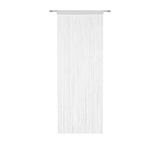 ZÁCLONA PROVÁZKOVÁ, 90/245 cm, bílá - bílá, Basics, textil (90/245cm) - Boxxx