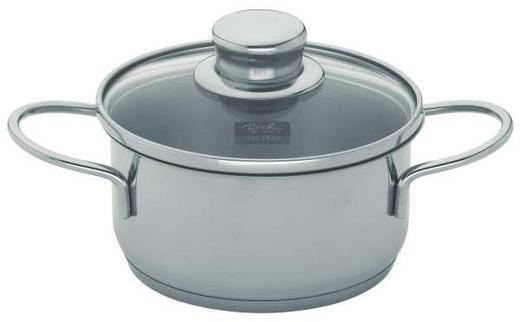 HRNEC - barvy stříbra/čiré, Basics, kov/sklo (14cm) - FISSLER