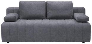 SCHLAFSOFA in Textil Grau  - Schwarz/Grau, MODERN, Kunststoff/Textil (198/87/92cm) - Xora