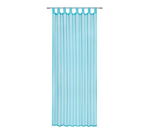 SCHLAUFENVORHANG transparent - Blau, Basics, Textil (140/245cm) - Boxxx