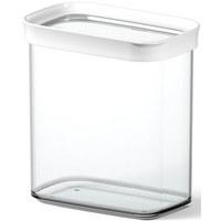 VORRATSDOSE 1,6 L - Transparent/Weiß, Basics, Kunststoff (1.60l) - EMSA
